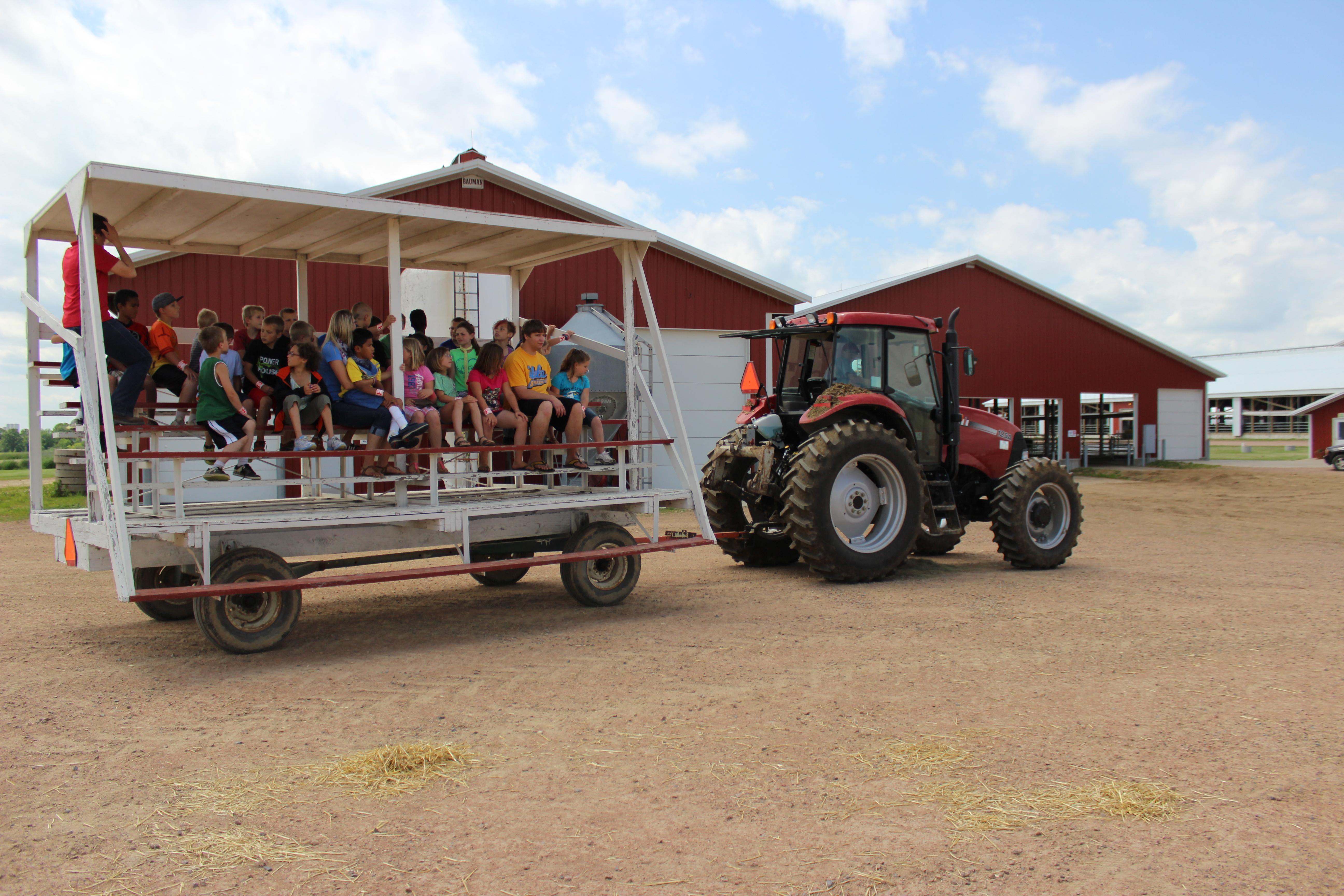 Tour wagon ready for barn tour.